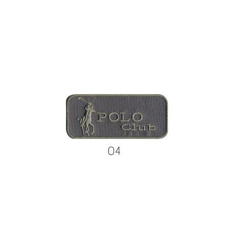 Ecusson Thermocollant Polo club Gris