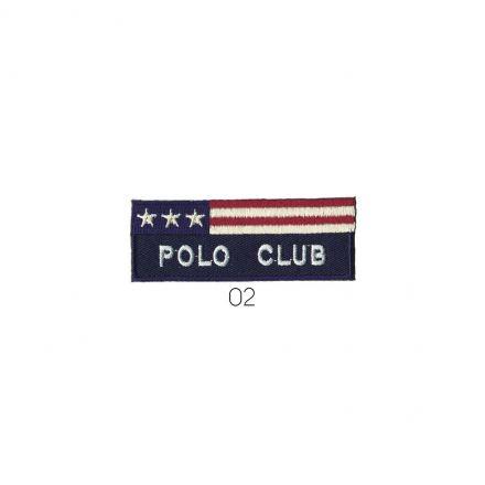 Ecusson Thermocollant Polo Club Bleu marine