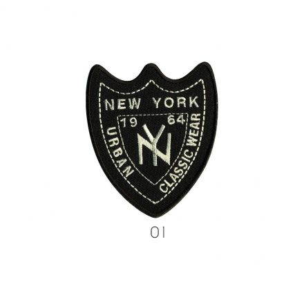Ecusson Thermocollant New York Noir