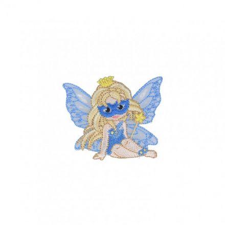 Ecusson Thermocollant Fée Masquée Bleue