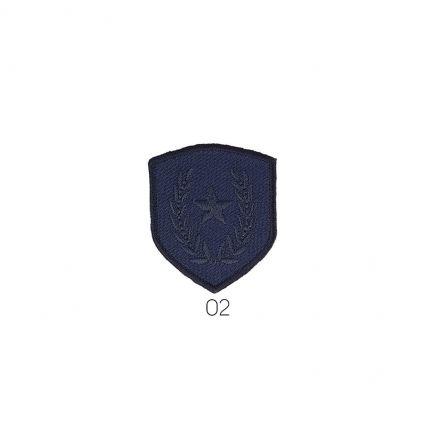 Ecusson Thermocollant Etoile/Laurier Bleu