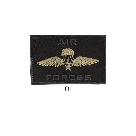 Ecusson Thermocollant Air Force Beige et Noir