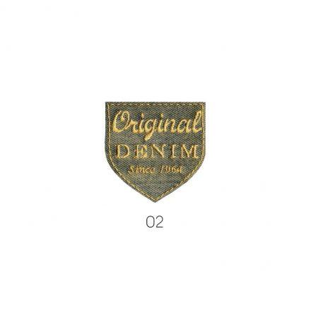 Ecusson Thermocollant Original Denim Gris