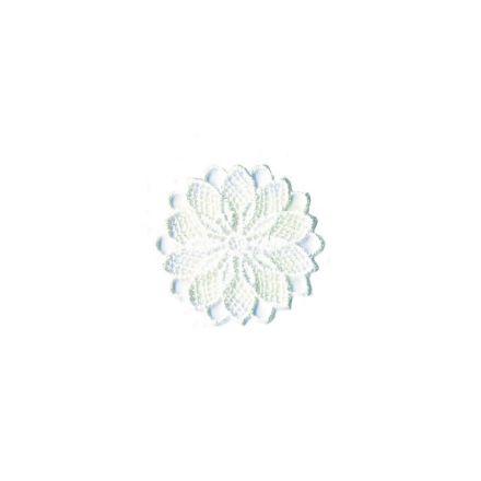 Ecusson Thermocollant fleur effet dentelle blanche