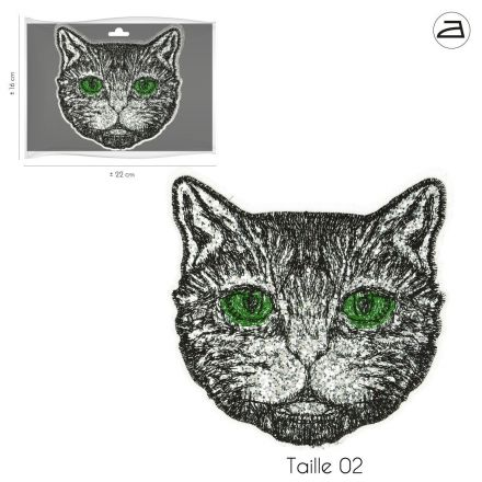 Ecusson Thermocollant Patch Chat XL