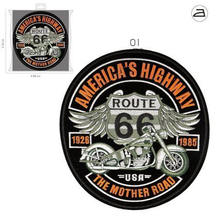 Ecusson Thermocollant Patch América Route 66 XL