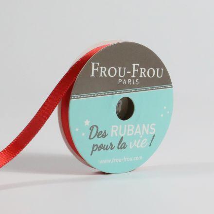 Bobinette Ruban Satin double face Frou-Frou Coquelicot - 6 mm x 6 mètres
