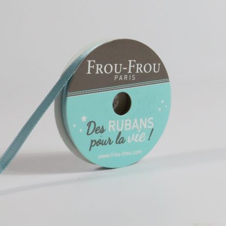 Bobinette Ruban Satin double face Frou-Frou Eucalyptus - 6 mm x 6 mètres