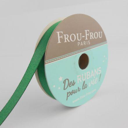 Bobinette Ruban Satin double face Frou-Frou Emeraude - 9 mm x 6 mètres
