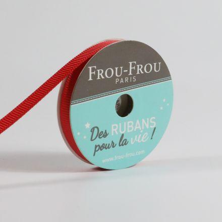 Bobinette Ruban Gros grain Frou-Frou Coquelicot - 6 mm x 6 mètres