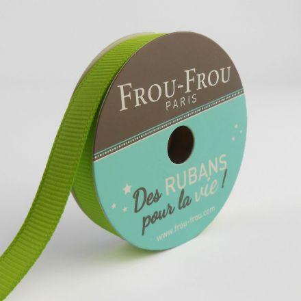 Bobinette Ruban Gros grain Frou-Frou Jardin d'oliviers - 9 mm x 6 mètres