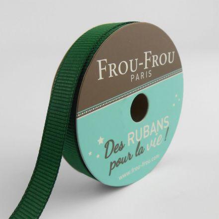 Bobinette Ruban Gros grain Frou-Frou Emeraude - 9 mm x 6 mètres