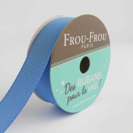 Bobinette Ruban Gros grain Frou-Frou Ciel intense - 16 mm x 6 mètres
