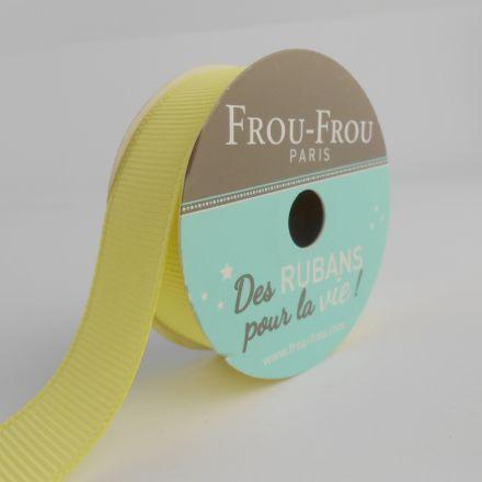 Bobinette Ruban Gros grain Frou-Frou Fleur d'oliviers - 16 mm x 6 mètres