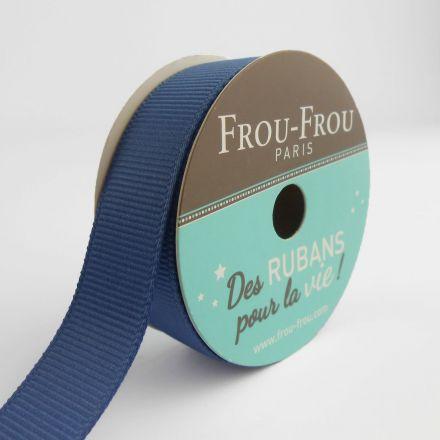 Bobinette Ruban Gros grain Frou-Frou Ardoise cendre - 16 mm x 6 mètres