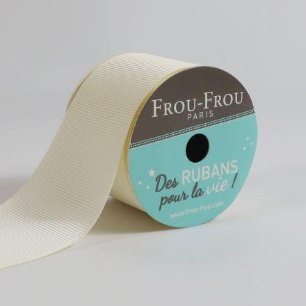 Bobinette Ruban Gros grain Frou-Frou Ivoire nacre - 38 mm x 4 mètres