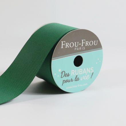 Bobinette Ruban Gros grain Frou-Frou Emeraude - 38 mm x 4 mètres