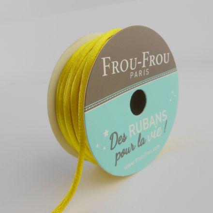 Bobinette Ruban Cordon de satin Frou-Frou Tournesol - 2 mm x 10 mètres