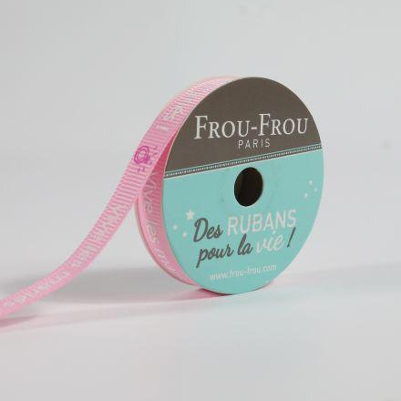 Bobinette Ruban Gros grain message Vive les mariés Frou-Frou - 10 mm x 5 mètres