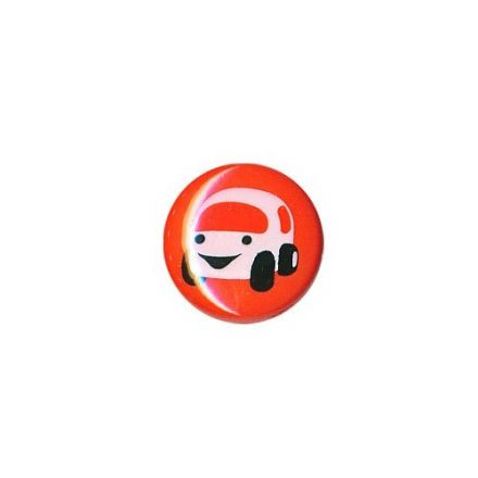 Bouton Cars Polyester Rouge