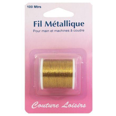 Bobine de fil métallique or -100m (main et machine)