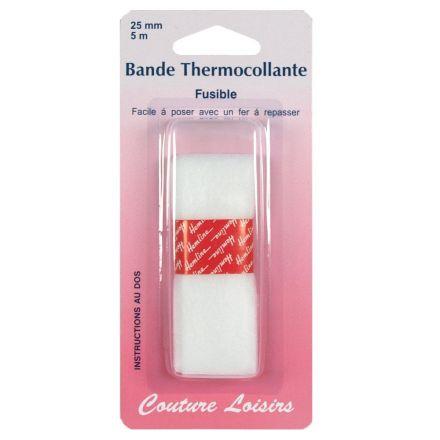 Bande thermocollante pour ourlets 25 mm longueur 5m