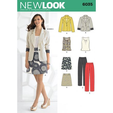 Patron New Look 6035 Tailleur