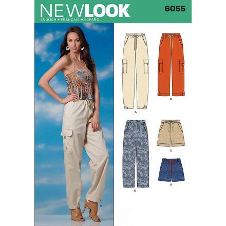 Patron New Look 6055 Pantalon