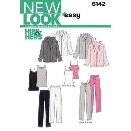 Patron New Look 6142 Vêtements de sport