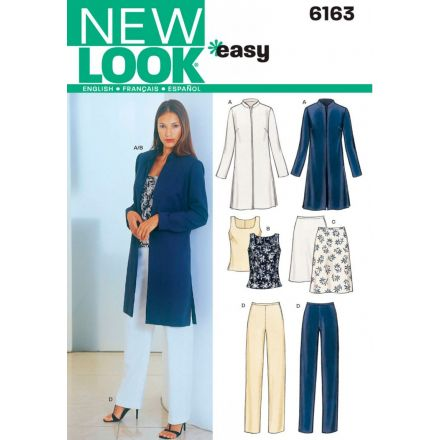 Patron New Look 6163 Ensemble Veste, Haut, Pantalon