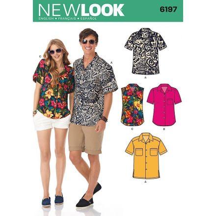 Patron New Look 6197 Chemise mixte