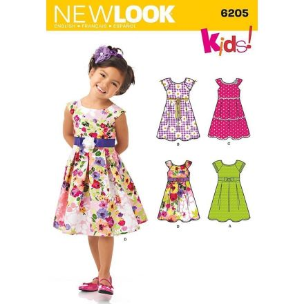 Patron New Look 6205 Robes Fillettes