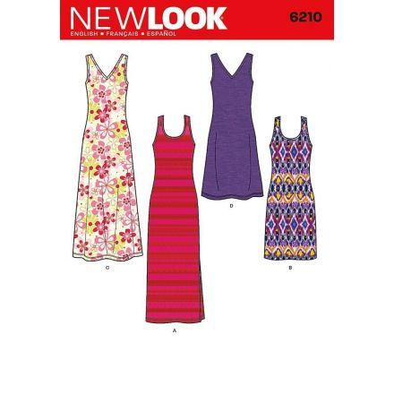 Patron New Look 6210 Robe Estivale