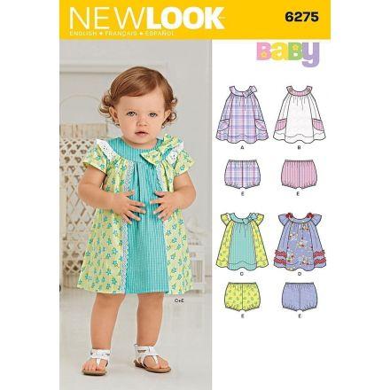 Patron New Look 6275 Robe et Culotte Bébé