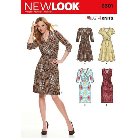 Patron New Look 6301 Robe Portefeuille