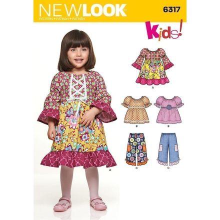 Patron New Look 6317 Ensemble enfant