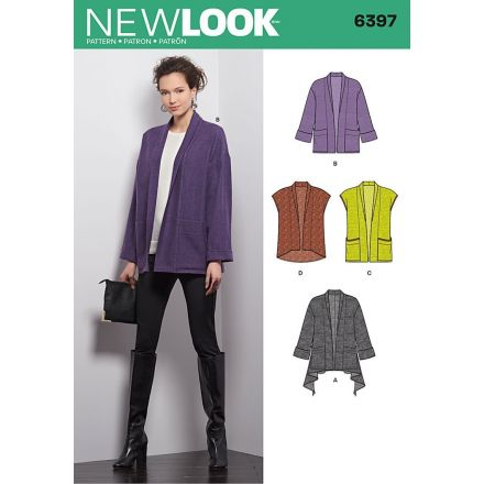 Patron New Look 6397 Gilet