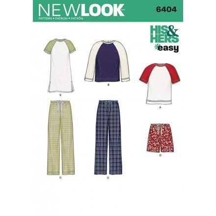 Patron New Look 6404 Ensemble Femme et Homme