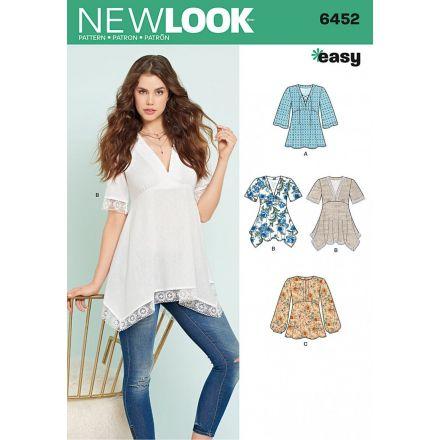 Patron New Look 6452 Tunique