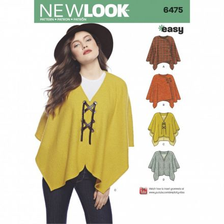 Patron New Look 6475 Poncho