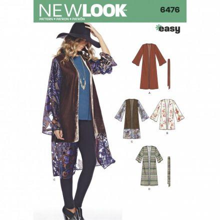 Patron New Look 6476 Kimono