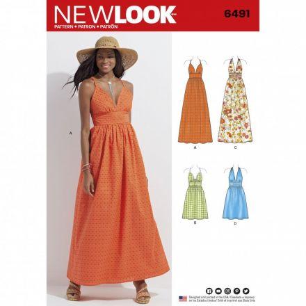 Patron New Look 6491 Robe Dame
