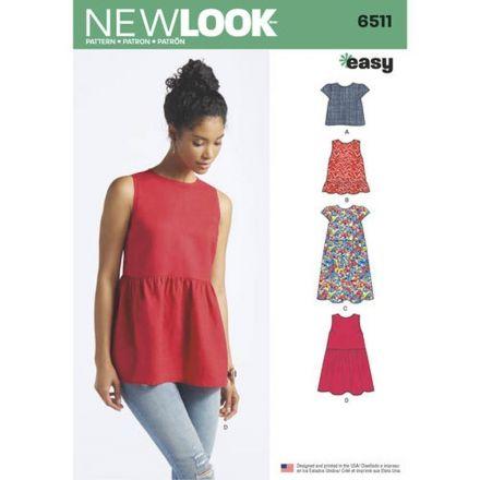 Patron New Look 6511 Haut et robe