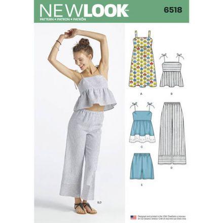 Patron New Look 6518 Pantacourt, haut et short
