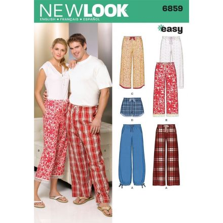 Patron New Look 6859 Pantalon, Pantacour, Short