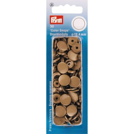 Prym 30 Boutons pression Color Snaps or 12,4 mm