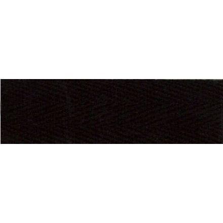 Sergé Coton 11 mm Noir x1m