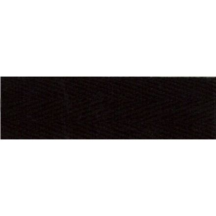 Sergé Coton 20 mm Noir x1m