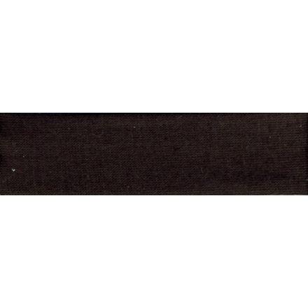 Biais replié Jersey 20 mm Noir x1m