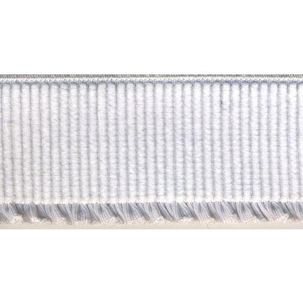 Elastique Bord Côte tout textile 40 mm Blanc x1m